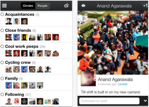 Google+ untuk iPhone