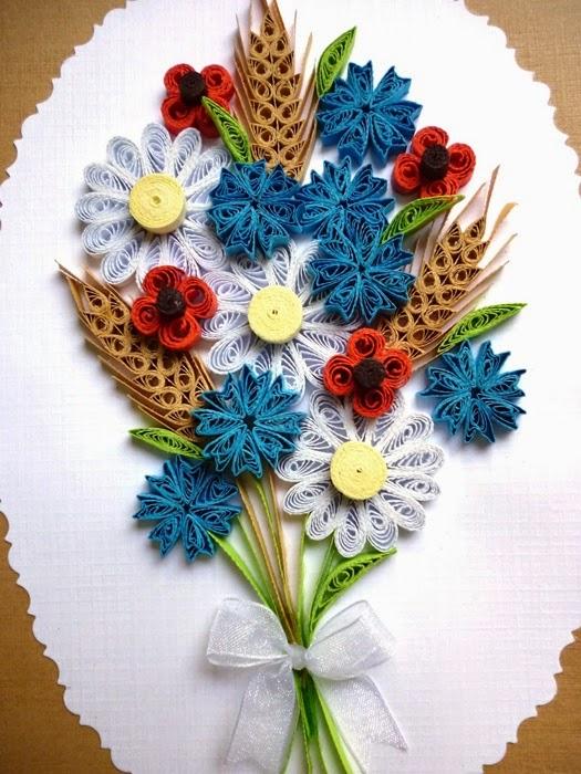 Букет цветов квиллинг своими руками 301