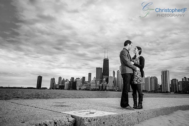 Chicago Lake front Engagement Photo