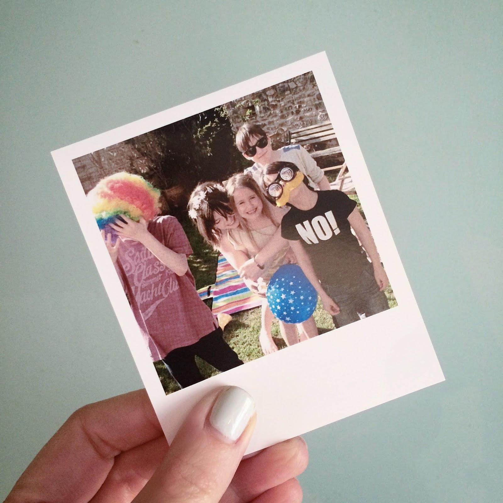 Family photo polaroid
