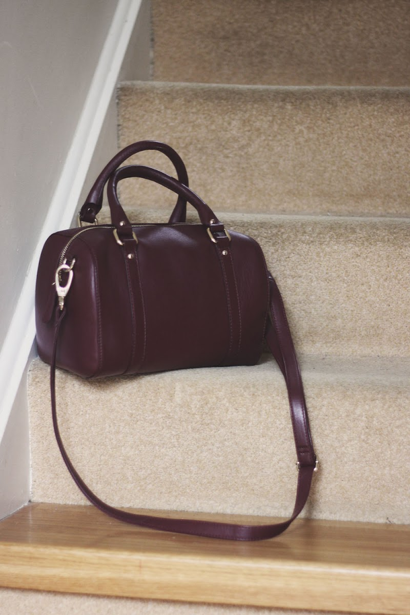 marks and spencer leather bowling bag