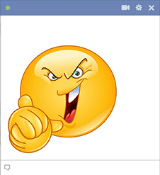 Facebook smiley evil laugh