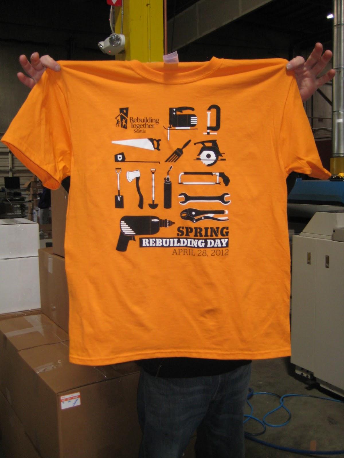 Rebuilding Together Seattle Spring Rebuilding Day 2013 T Shirt