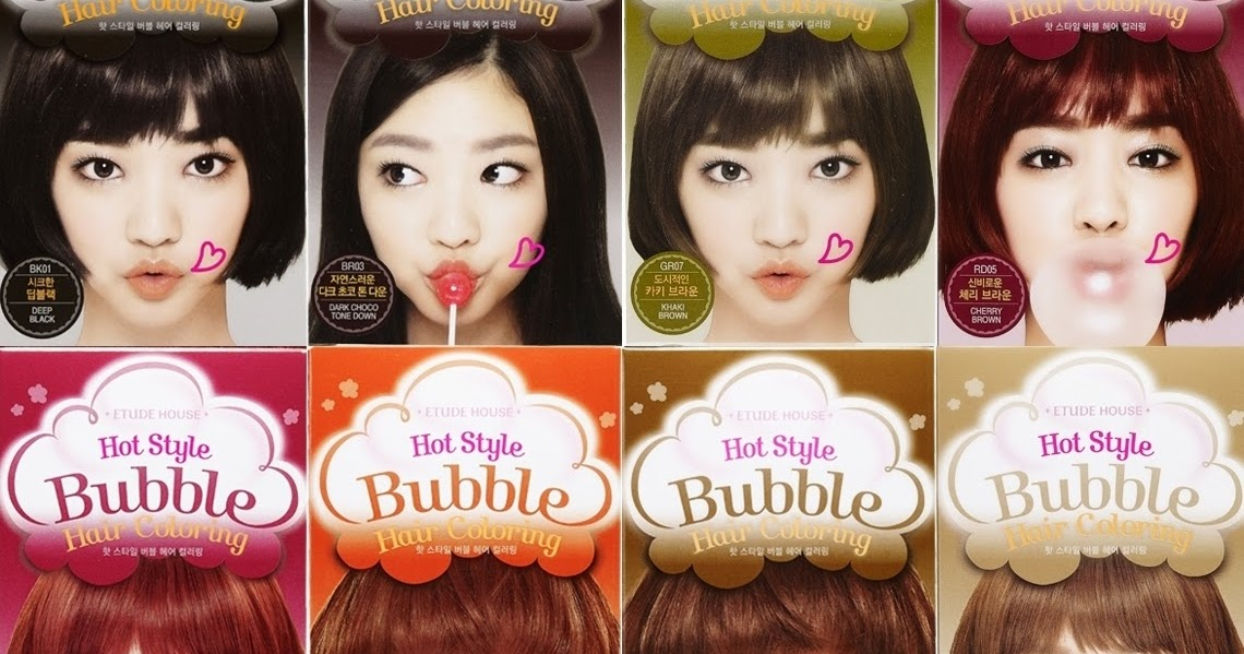 Etude House Hot Style Bubble Hair Coloring Shampoo in