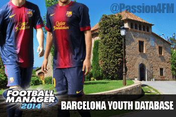 Football Manager 2014 Youth Database Barcelona Talents