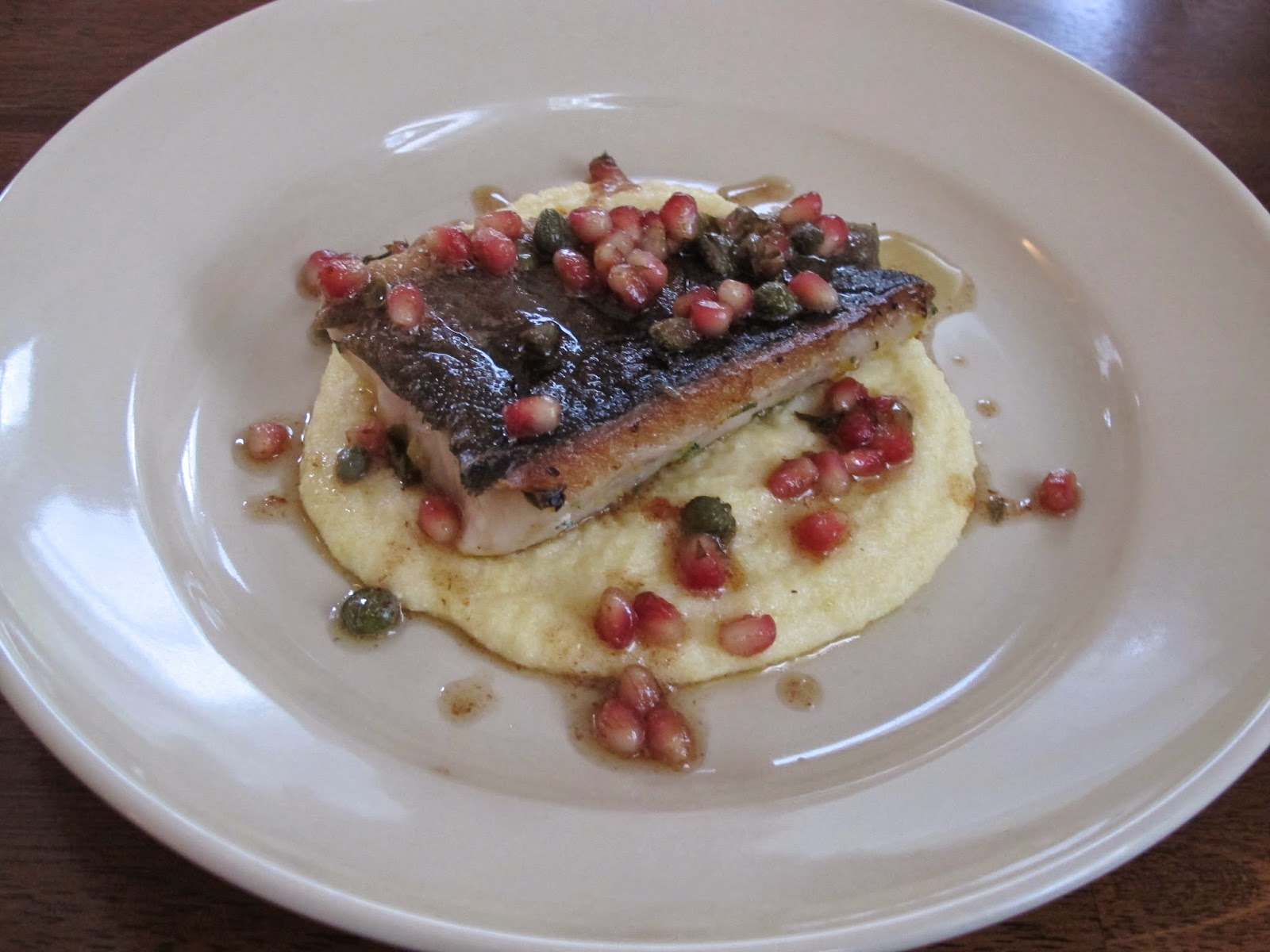 Sablefish with Pomegranate Caper Brown Butter