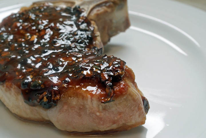 Maple & Black Pepper Pork Chops