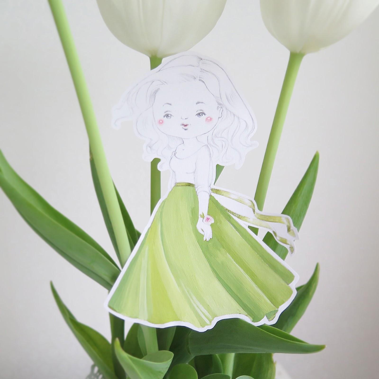 Катя и тюльпаны