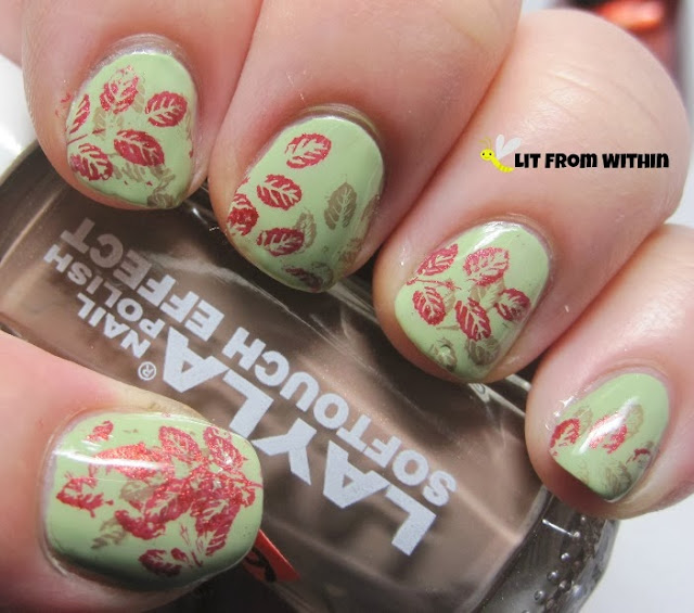 stamped first with Layla Softouch Effect 11, and then with Zoya Channing