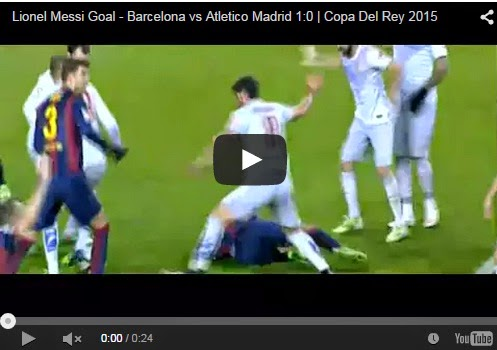 Highlights Copa del Rey Barcelona 1-0 Atletico