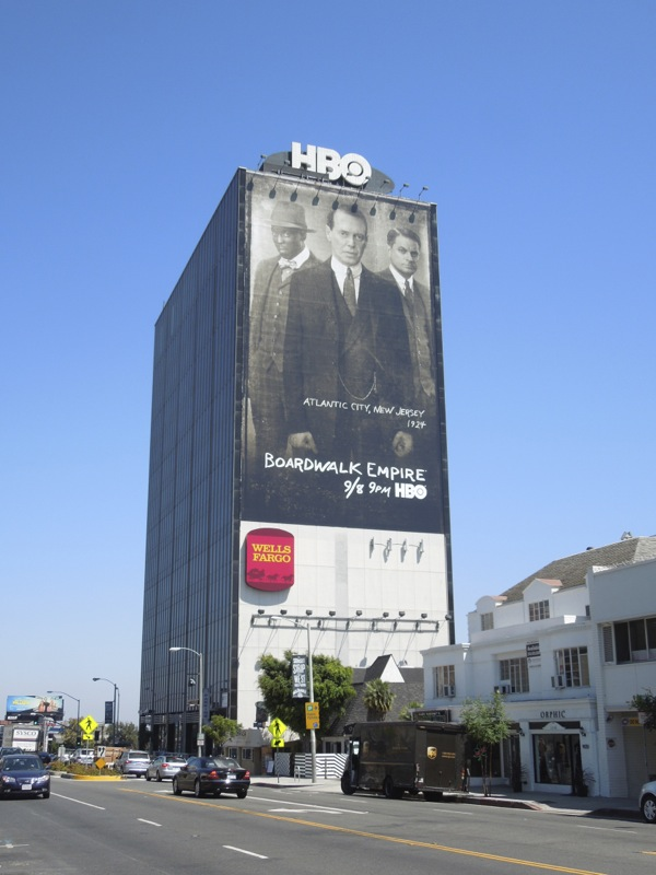 Giant Boardwalk Empire 4 billboard Sunset Strip