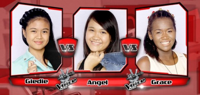 Angel Won Over Giedie and Grace on The Sing-offs for The Voice Kids Philippines