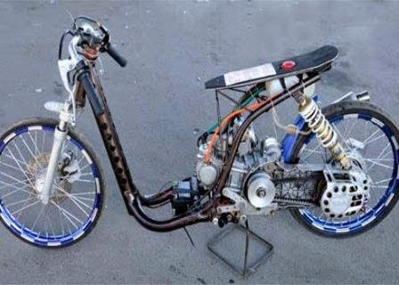 Modifikasi Motor Drag Mio Sporty Tembus 150 CC
