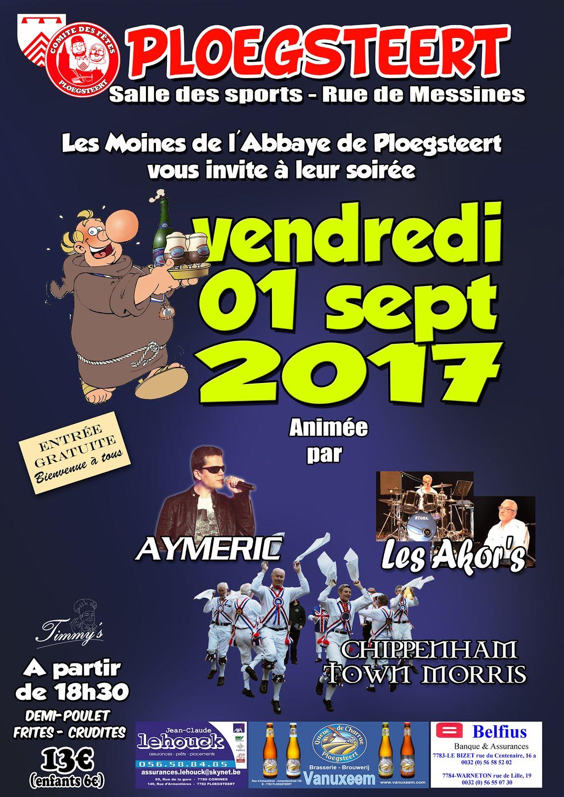 vendredi 1 septembre soirée des moines.