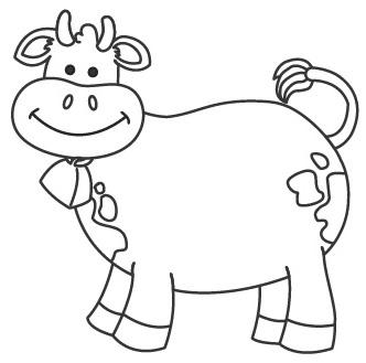 Desenhos Para Colorir Vaca felis sorrindo para copiar