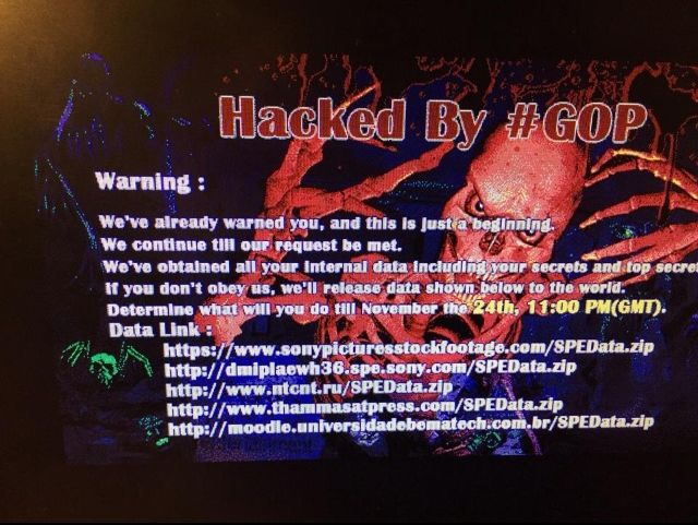 Hacked by #GOP - Sony Pictures