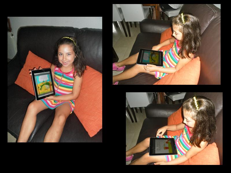 Alejandra lee el cuento personalizado Dragones