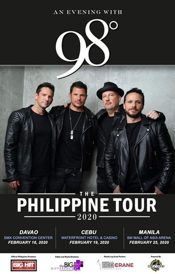 """An Evening with 98 Degrees "" The Philippine Tour 2020"