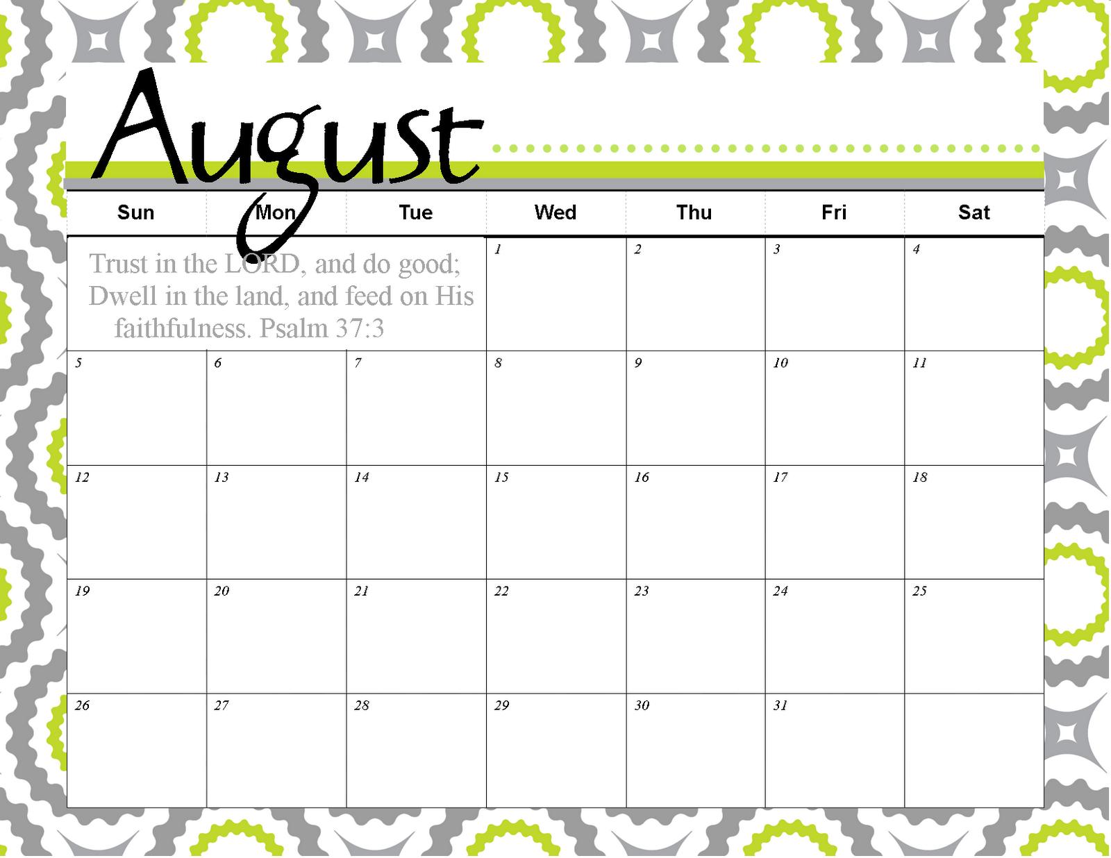 Calendar August : August calendar