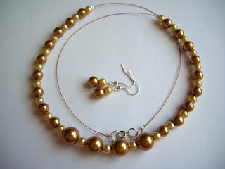 biżuteria z półfabrykatów - złote preły (komplet)