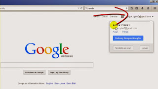 Klik akun google kita