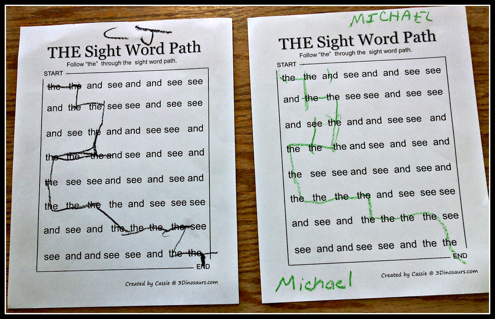and printable sight Michael  then of a word read two and Word I Sight went played rounds book and   book