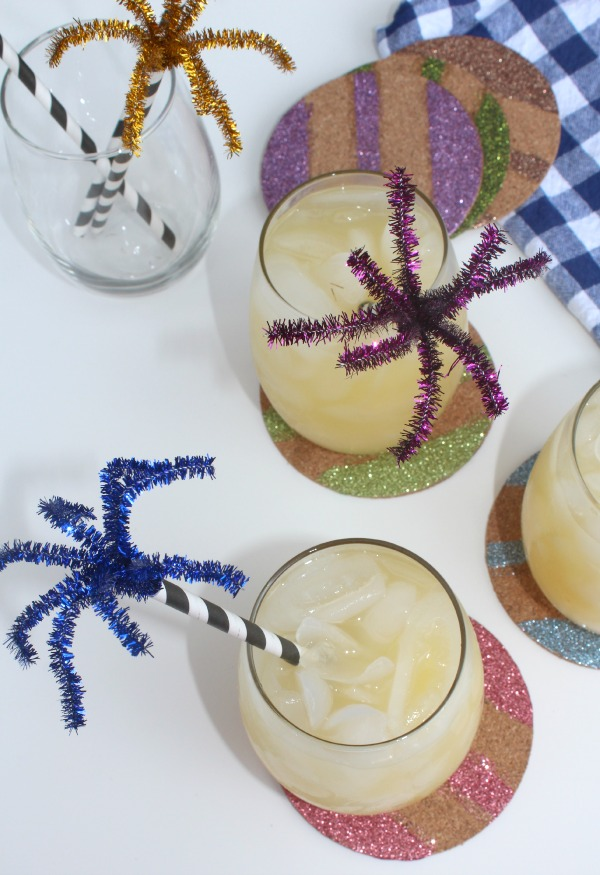 diy firework drink stirrers