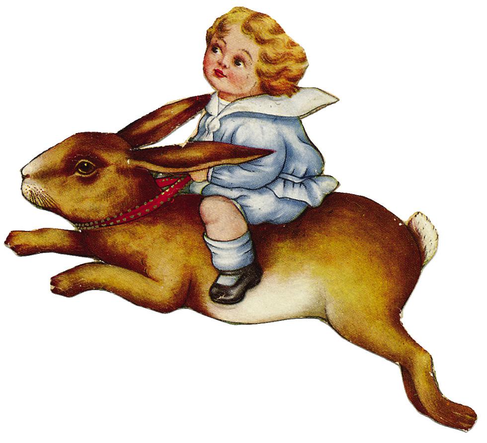 Vintage easter bunny clip art