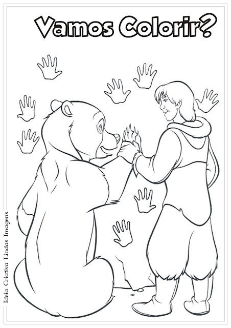 Desenho para colorir Irmão Urso