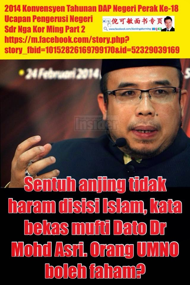 SENTUH ANJING TAK HARAM PADA ISLAM NGA KOR MING