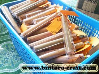 Undangan Bambu Gulung Murah
