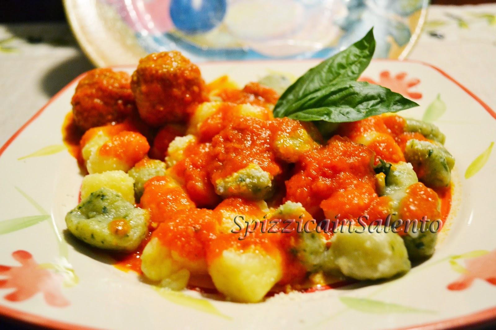 gnocchi di patate al tricolore per tifare italia ai mondiali di calcio 2014