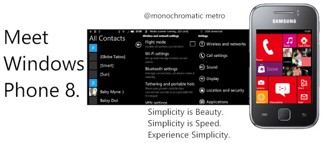 Monochromatic Synergy Rom -Windows 8 For Galaxy Y