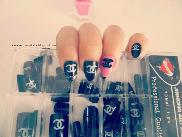 Coco Chanel Inspired Claw Nail Art tips