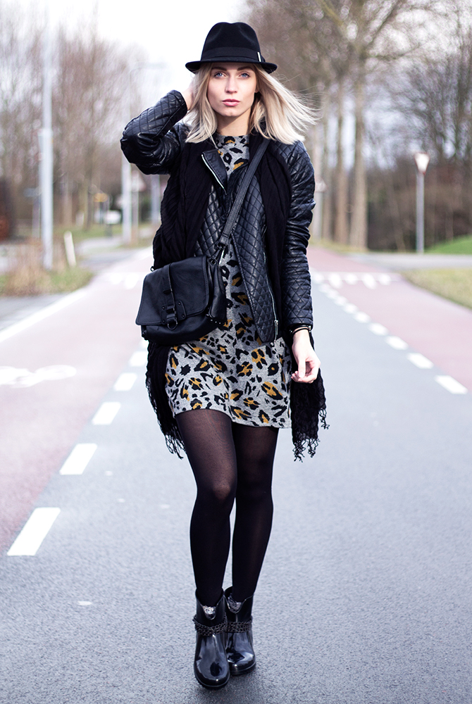 Fashion Attacks outfit ootd Zara leopard printed dress