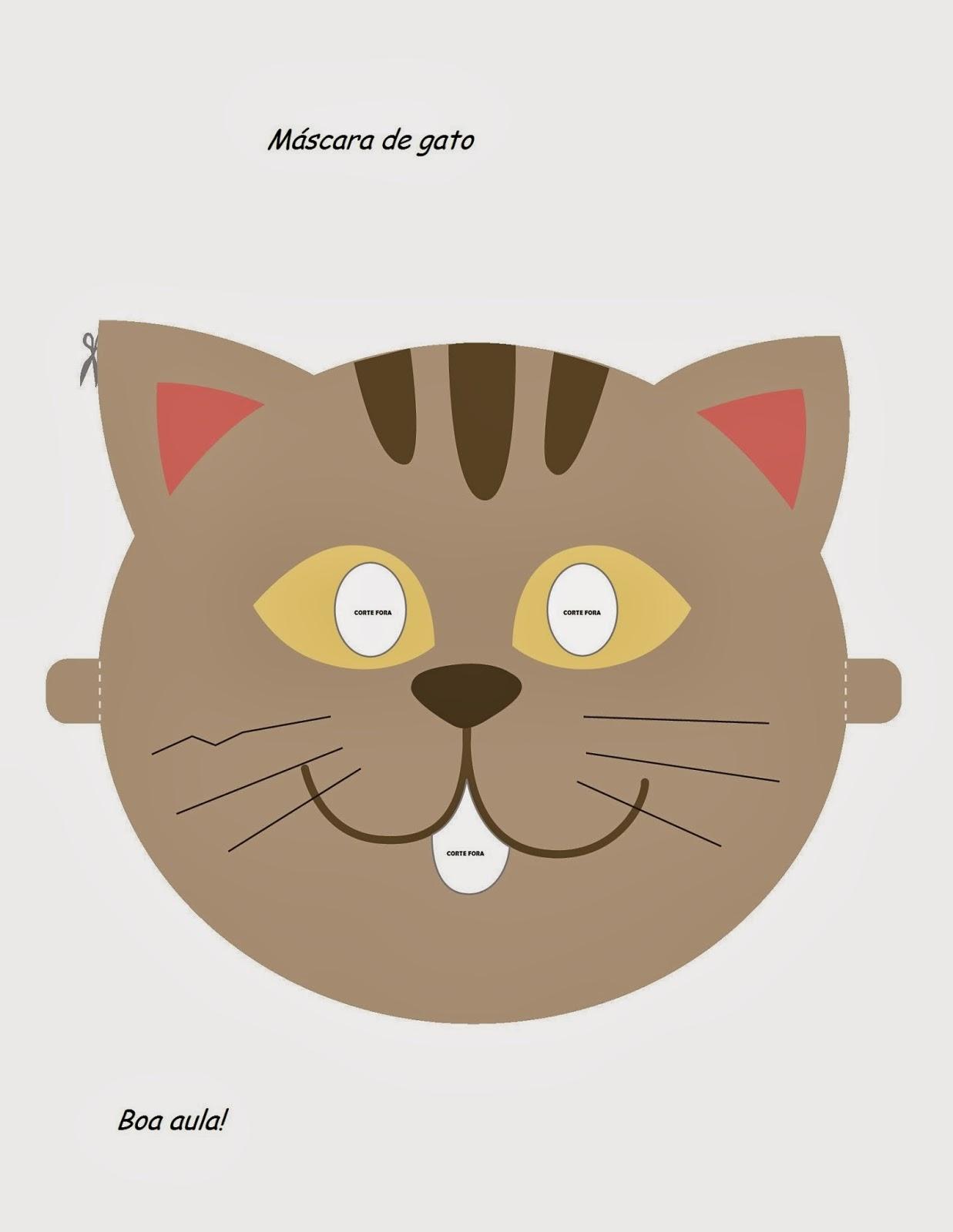 Máscaras de Animais - Gato