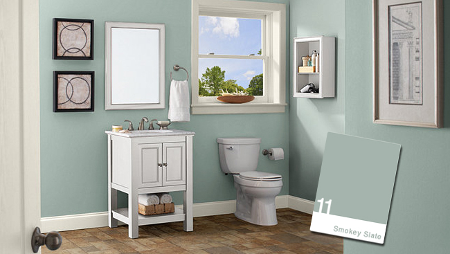 Bathroom color ideas green house style pictures What color to paint a small bathroom