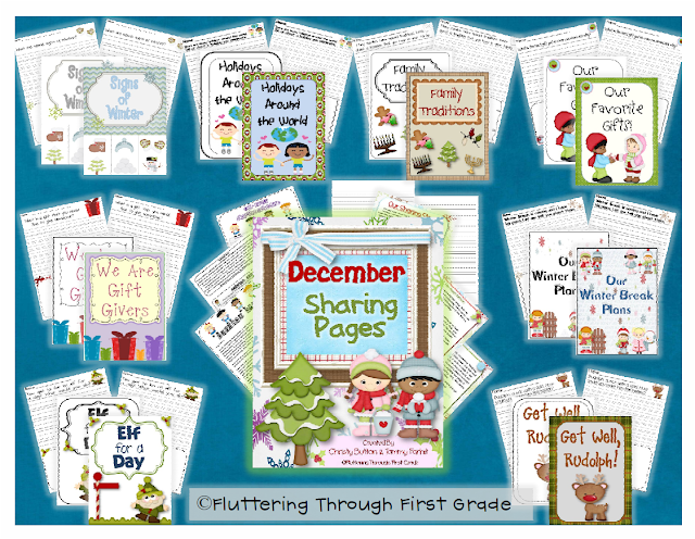 http://www.teacherspayteachers.com/Product/December-Writing-Pages-for-Class-Share-Time-396621