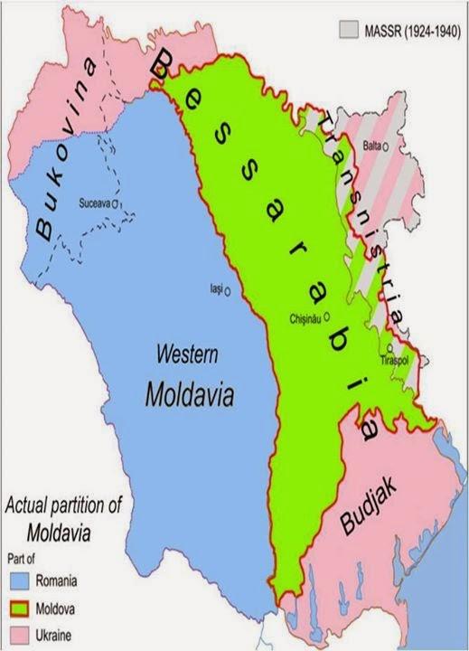 Moldova-Romanya-Ukrayna Haritası