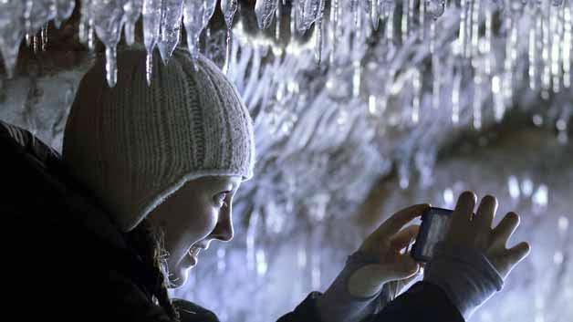 Cuevas marinas congeladas