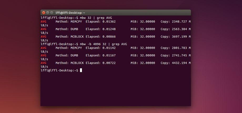 mbw in Ubuntu
