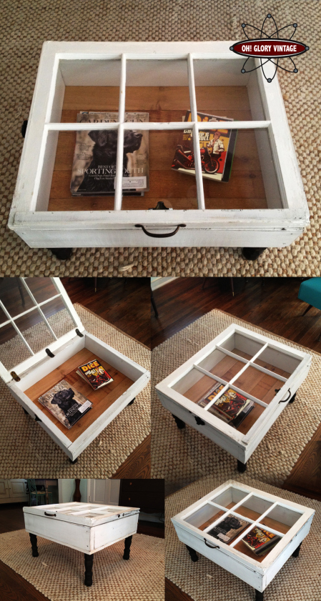 Make a coffee table from an old window