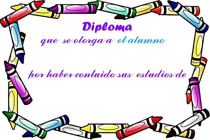 Diploma para imprimir en word - Imagui