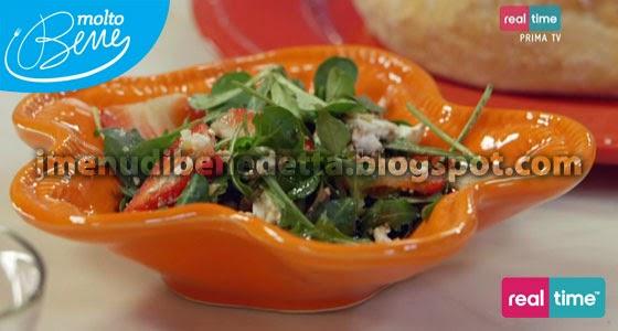 Insalata alle Fragole e Quartirolo con Stecchi di Parmigiano di Benedetta Parodi