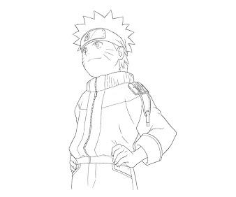 #8 Naruto Coloring Page