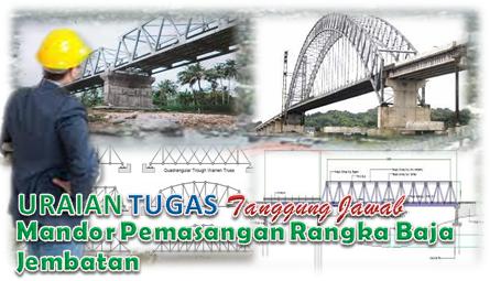 Uraian Tugas Mandor Pemasangan Rangka Baja Jembatan