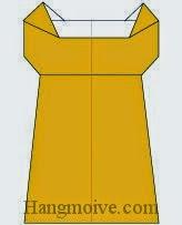 Bước 10: Hoàn thành cách xếp váy ngủ bằng giấy theo phong cách origami.