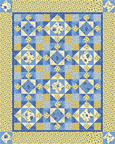 Sew in Love {with Fabric}: Sunshine and blue skies : blue and yellow quilt - Adamdwight.com