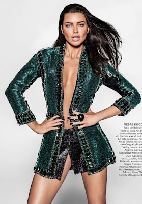Adriana Lima on Vogue Magazine Mexico July 2015 latest Issue