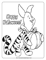 halloween coloring pages  piglet on costume
